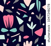terrazzo floral seamless... | Shutterstock .eps vector #1047248278
