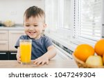 the child in the kitchen ... | Shutterstock . vector #1047249304