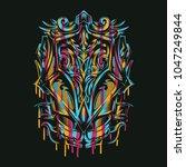 colorful ornament illustration   Shutterstock .eps vector #1047249844