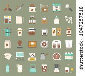 coffee brew equipment for... | Shutterstock .eps vector #1047257518