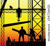 Construction Worker At Work An...