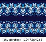 ikat geometric folklore... | Shutterstock .eps vector #1047264268