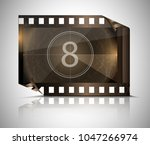 filmstrip on a gray background | Shutterstock .eps vector #1047266974