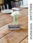 reserved metal plate on the... | Shutterstock . vector #1047270406