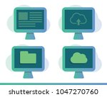 deploy icons. cloud system. web ...