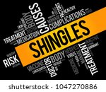 shingles word cloud collage ... | Shutterstock .eps vector #1047270886