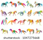 set of mosaic vector colorful... | Shutterstock .eps vector #1047275668