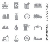 oil industry icons. gray flat... | Shutterstock .eps vector #1047277180