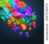 low poly background  shattering ...   Shutterstock .eps vector #1047278473