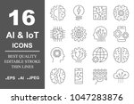 simple set of artificial... | Shutterstock .eps vector #1047283876