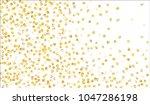 big gold confetti. festive... | Shutterstock .eps vector #1047286198