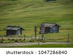 summer in alpe di siusi seiser... | Shutterstock . vector #1047286840