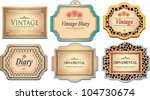 vintage labels | Shutterstock .eps vector #104730674