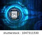 binary circuit board future... | Shutterstock .eps vector #1047311530