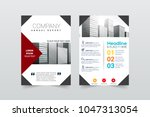 front and back cover of a...   Shutterstock .eps vector #1047313054