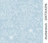 hand drawn floral seamless... | Shutterstock .eps vector #1047314296