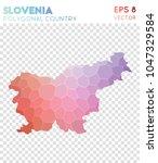 slovenia polygonal  mosaic... | Shutterstock .eps vector #1047329584