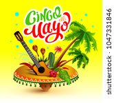 cinco de mayo banner. lettering ... | Shutterstock .eps vector #1047331846