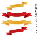 ribbon collection. vector | Shutterstock .eps vector #104733299