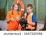 children on vacation children's ... | Shutterstock . vector #1047335398