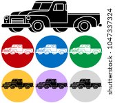 vector icon of classic american ... | Shutterstock .eps vector #1047337324