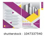 front and back cover of a... | Shutterstock .eps vector #1047337540