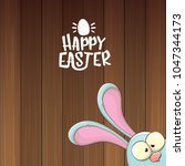 easter bunny with calligraphic... | Shutterstock .eps vector #1047344173