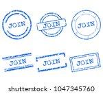 join stamps on white | Shutterstock .eps vector #1047345760