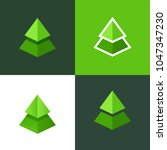 vector set of spruce logo. flat ... | Shutterstock .eps vector #1047347230