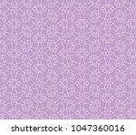 ornamental pink vector pattern  | Shutterstock .eps vector #1047360016