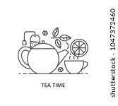 tea time vector illustration... | Shutterstock .eps vector #1047372460