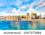 beautiful view of the castle of ... | Shutterstock . vector #1047372886