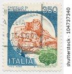 italy   circa 1980  a stamp... | Shutterstock . vector #104737340
