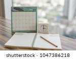 notebook with pencil diary... | Shutterstock . vector #1047386218