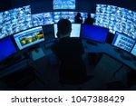 cctv security room | Shutterstock . vector #1047388429