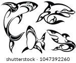 set of sharks | Shutterstock .eps vector #1047392260