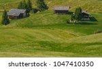 summer in alpe di siusi seiser... | Shutterstock . vector #1047410350
