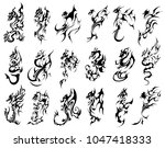 tattoo salon drogons | Shutterstock .eps vector #1047418333
