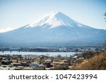 mount fuji in winter | Shutterstock . vector #1047423994