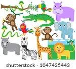 cute safari animals designs   Shutterstock .eps vector #1047425443
