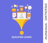 qualified leads   business lead ... | Shutterstock .eps vector #1047425563