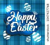 vector card with eggs. happy... | Shutterstock .eps vector #1047427768