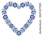 folk heart vector design ... | Shutterstock .eps vector #1047427900