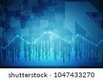 2d rendering stock market...   Shutterstock . vector #1047433270