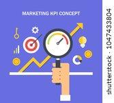 marketing kpi   key performance ... | Shutterstock .eps vector #1047433804