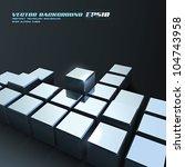 Vector Chrome Cubes Background