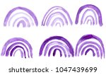 hand made watercolor arch... | Shutterstock . vector #1047439699
