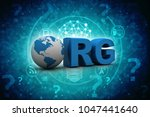 3d illustration internet domain ... | Shutterstock . vector #1047441640
