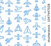 airplane seamless pattern with... | Shutterstock .eps vector #1047447028