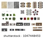 top view furniture set of... | Shutterstock . vector #1047448453